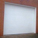 big white garage doors