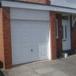 Bright white garage doors