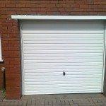 Bright white garage doors