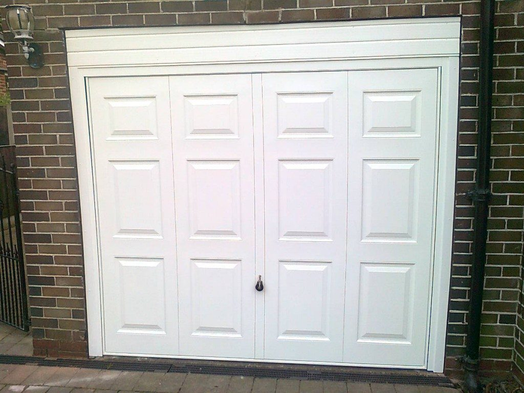 installed garage door
