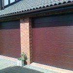 recentangle patterned garage doors
