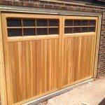 timber garage doors with windows
