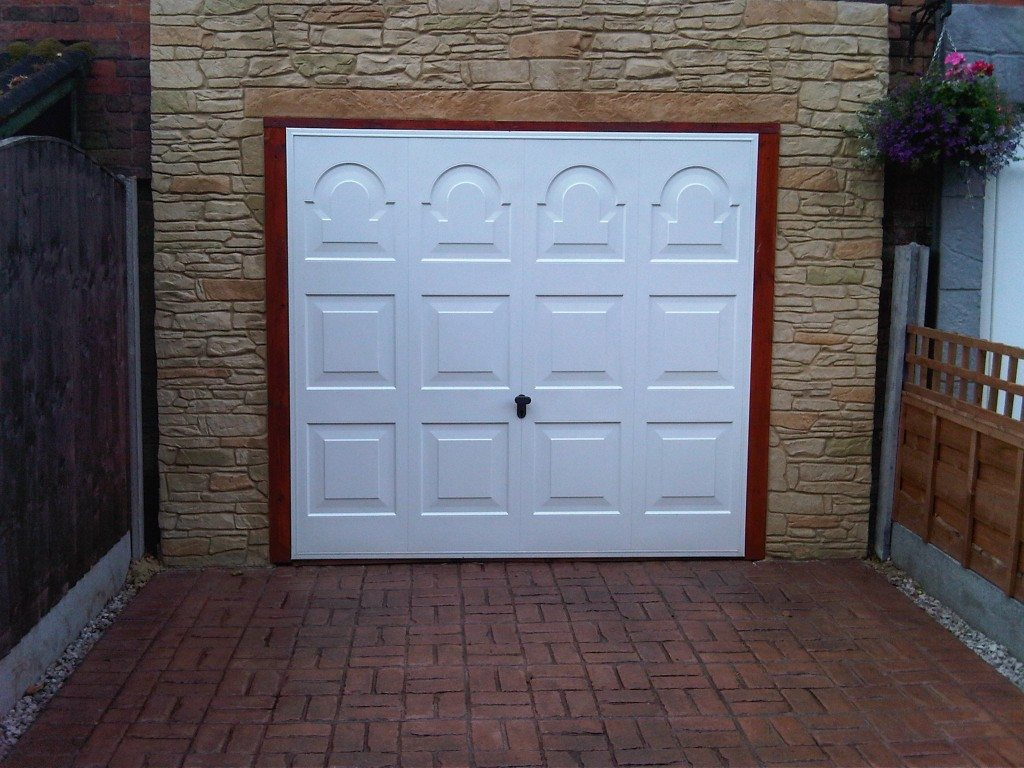 stylish white doors for garage